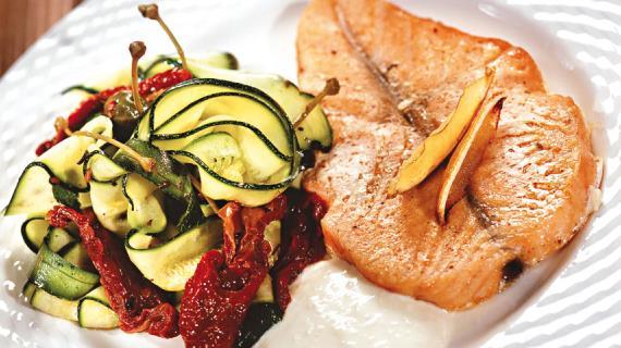 Основные блюда из лосося