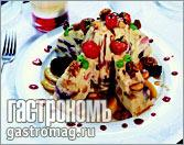 Рецепт Гурьевская каша с черникой