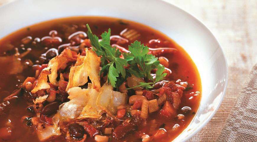 Рецепт Суп из фасоли с печеным сельдереем