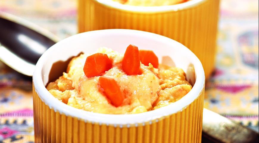 Рецепт Манная каша с морковью