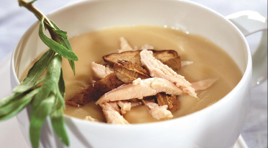 Рецепт Суп-пюре из курицы с грибами