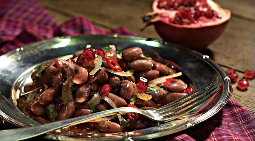 Рецепт Лобио с орехами и гранатом