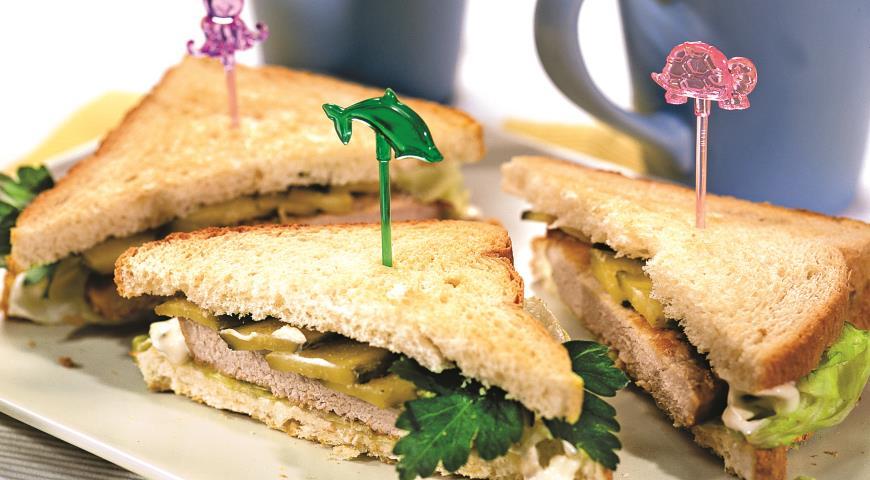 Рецепт Сэндвич со свининой