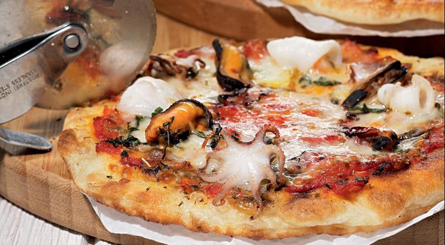 Рецепт Пицца фритта с морепродуктами