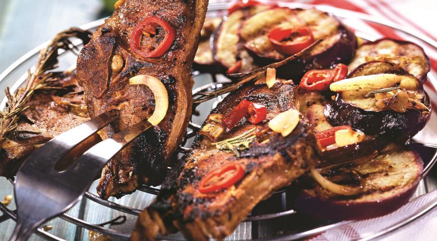 Рецепт Баранина с баклажанами на гриле