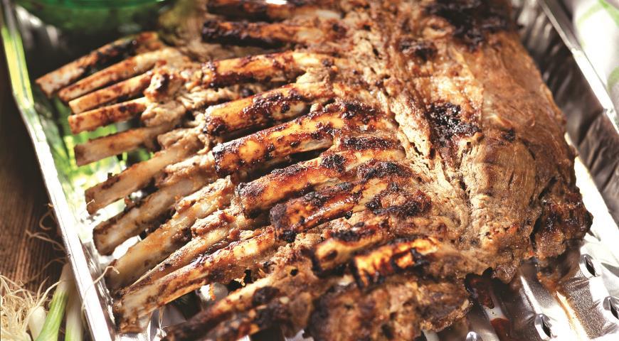 Рецепт Бараньи ребрышки в маринаде из киви