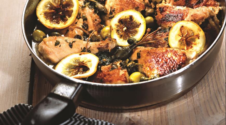 Рецепт Цыпленок с запеченными лимонами