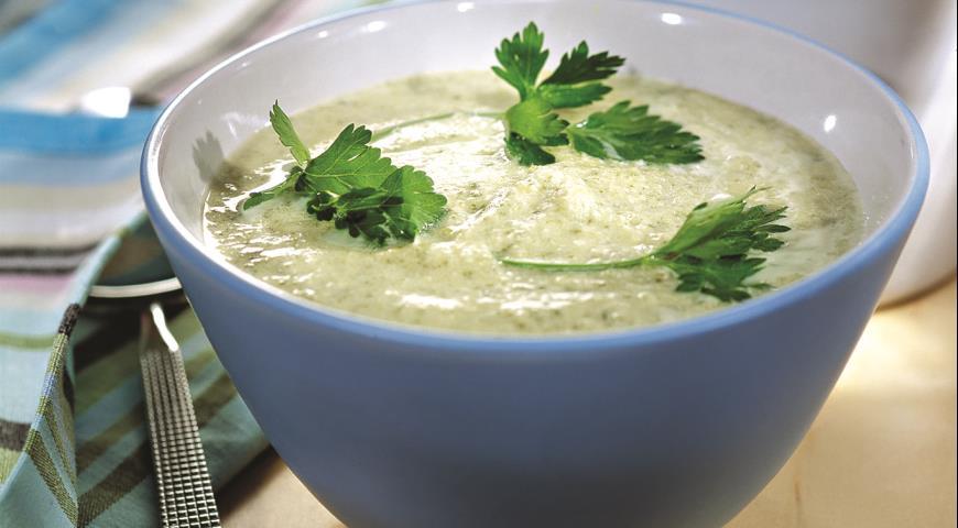 Рецепт Крем-суп из курицы со щавелем