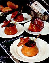 Рецепт Горшочек с грибами и фаршированными куриными крылышками