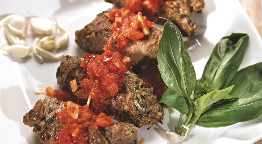 Рецепт Рулеты из говядины с зеленью