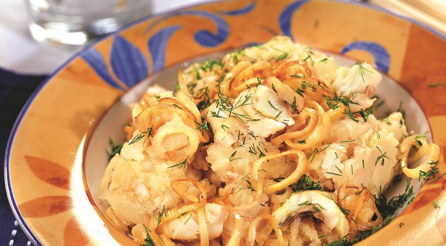 Рецепт Брандада из трески с луковым соусом