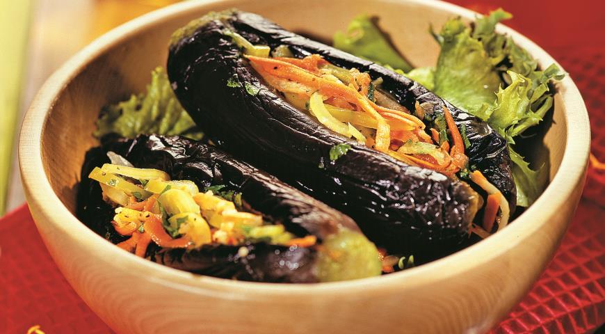 Рецепт Соленые баклажаны, фаршированные овощами
