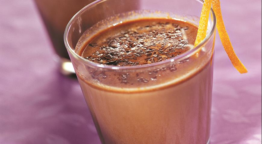 Рецепт Горячий шоколад с апельсиновой цедрой