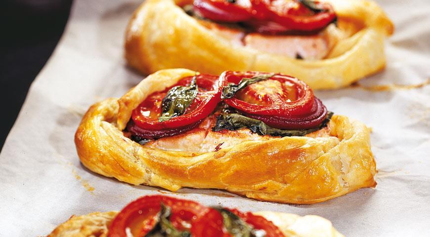 Рецепт Лосось с овощами в тесте