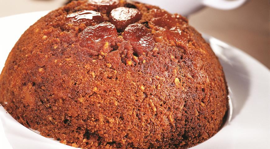 Рецепт Шоколадно-абрикосовый пудинг с шоколадным соусом