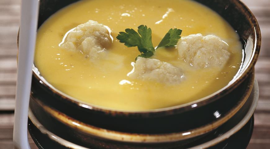 Рецепт Тыквенный суп с клецками