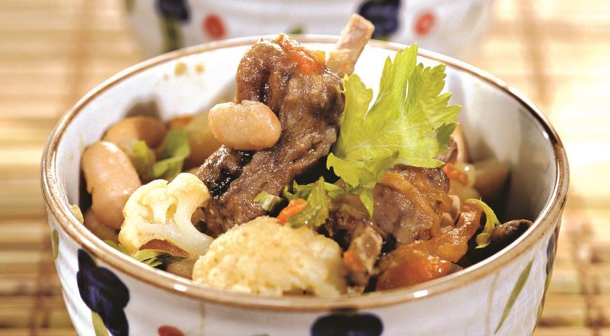 Рецепт Рагу из бараньих ребрышек с овощами