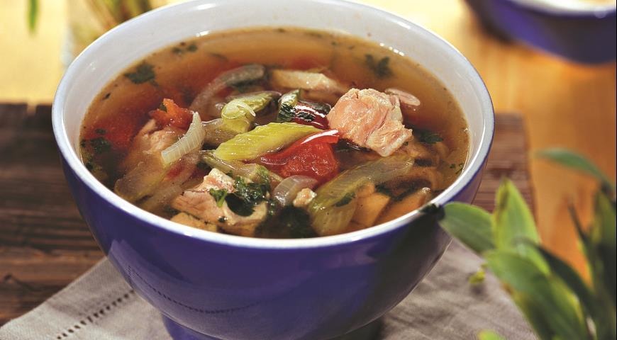 Рецепт Куриный суп с сельдереем и помидорами