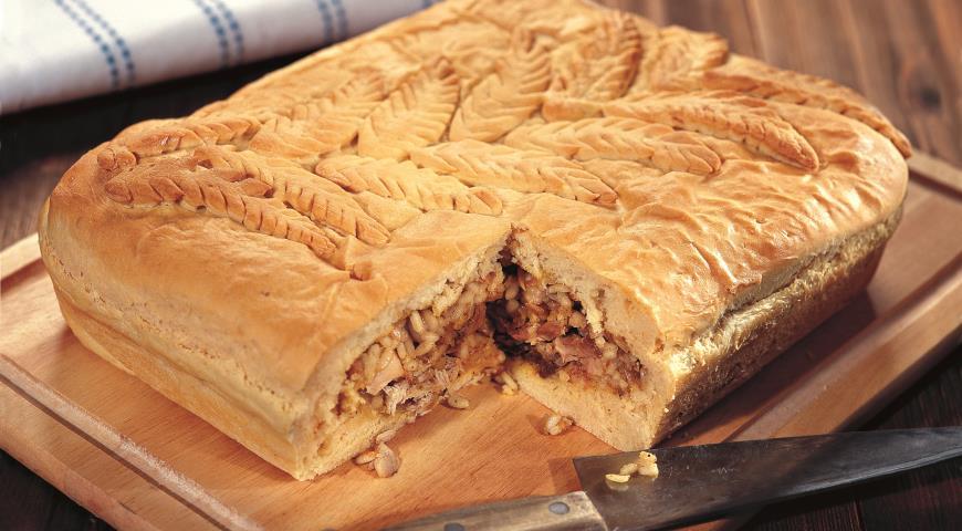 Рецепт Рождественский пирог с цыпленком