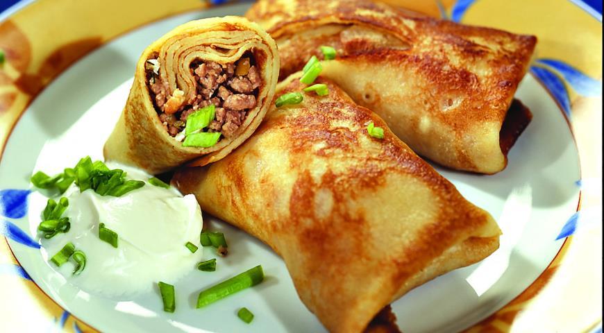 Рецепт Блинчики с мясом