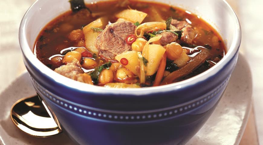 Рецепт Суп из баранины с нутом