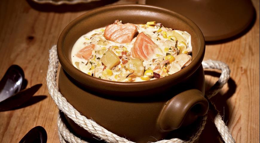 Рецепт Чаудер с моллюсками и кукурузой