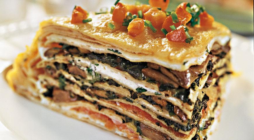 Рецепт Закусочный блинчатый торт