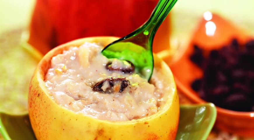 Рецепт Овсянка с яблоками