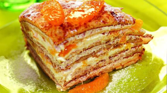 Блинчатый пирог десертный
