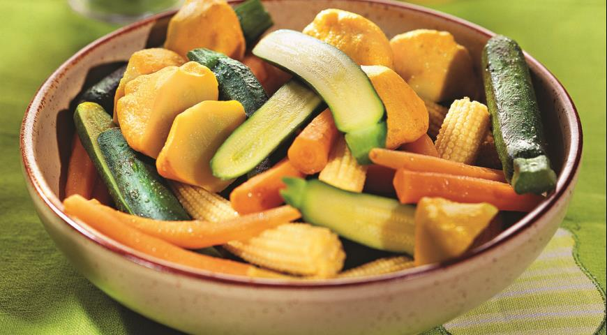 Рецепт Глазированные молодые овощи