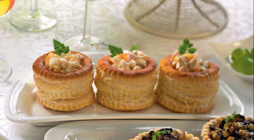 Рецепт Корзиночки с овощной и куриной начинкой