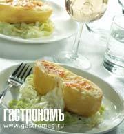 Рецепт Картофель-пашот, начиненный сыром