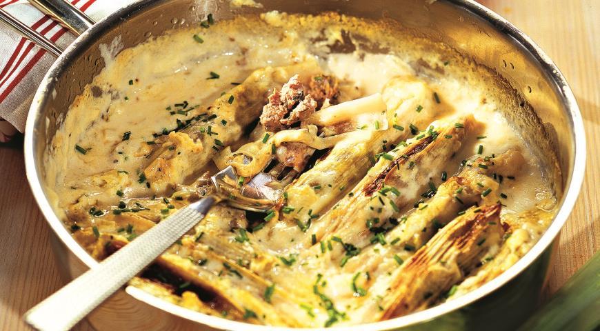 Рецепт Лук-порей, фаршированный бараниной