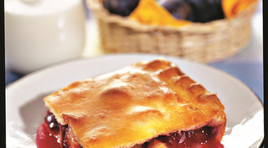 Рецепт Закрытый сливовый пирог