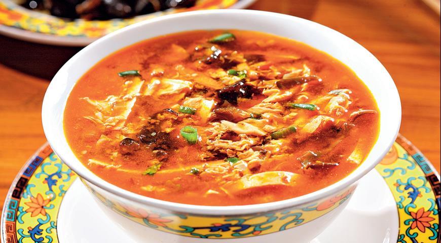 Рецепт Остро-кислый суп с тофу