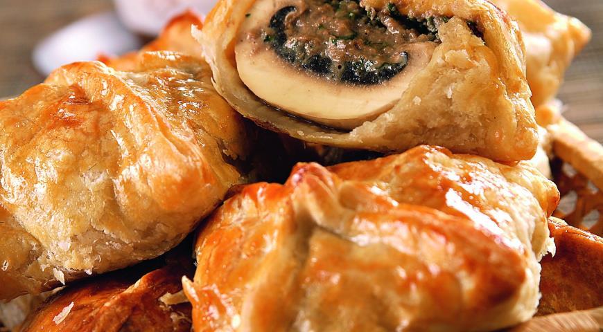 """Рецепт Пирожки с паштетом и грибами от """"Хлебного Дома"""""""