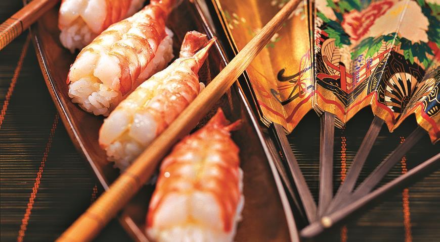Рецепт Нигири-суши с креветками