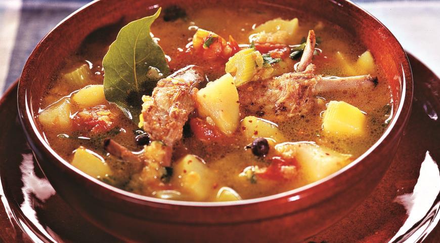 Рецепт Суп из бараньих ребрышек с чечевицей