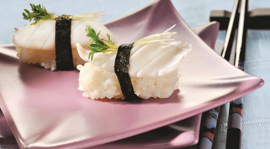 Рецепт Нигири-суши с кальмаром