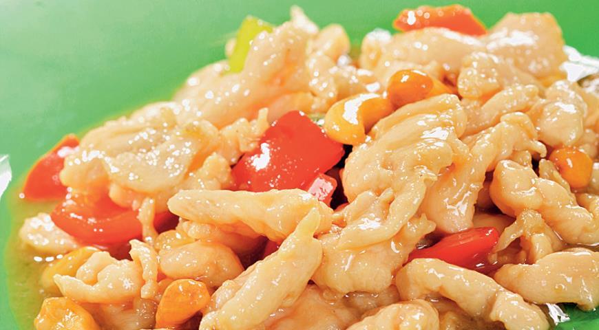 Рецепт Курица с орехами кешью
