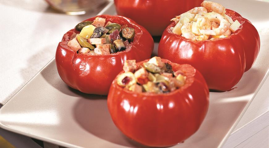 Рецепт Фаршированные помидоры. Базовый рецепт. Холодный способ