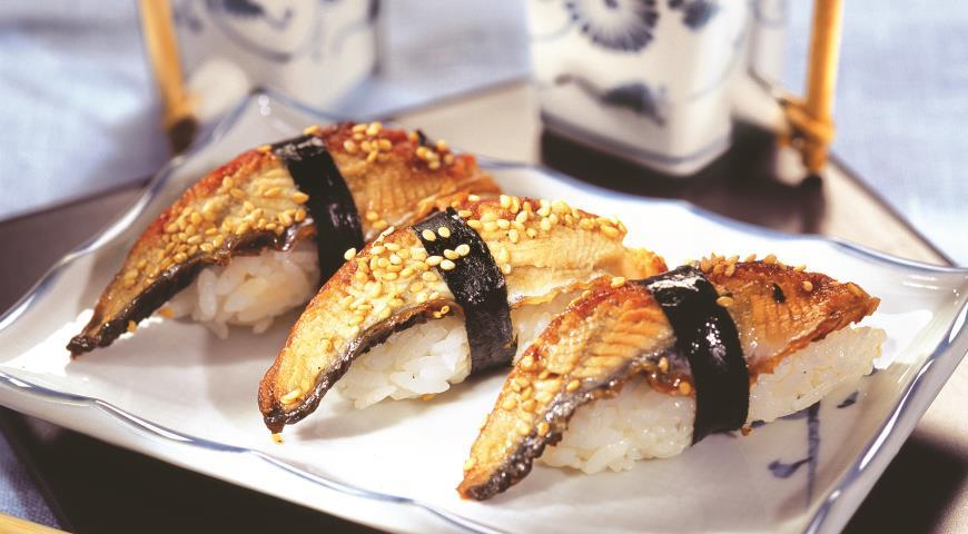 Рецепт Нигири-суши с угрем