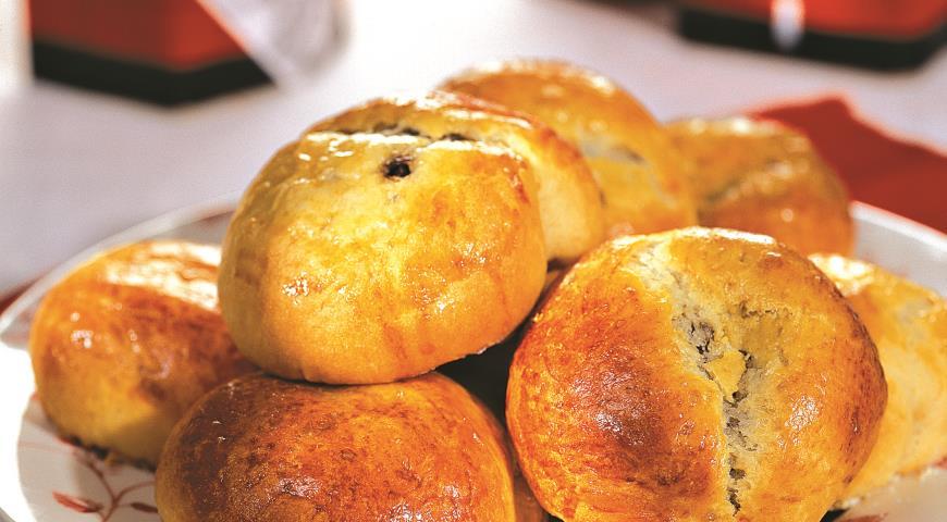 Рецепт Пирожки из дрожжевого безопарного теста с грибной начинкой