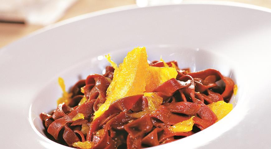 Рецепт Шоколадная лапша с апельсинами