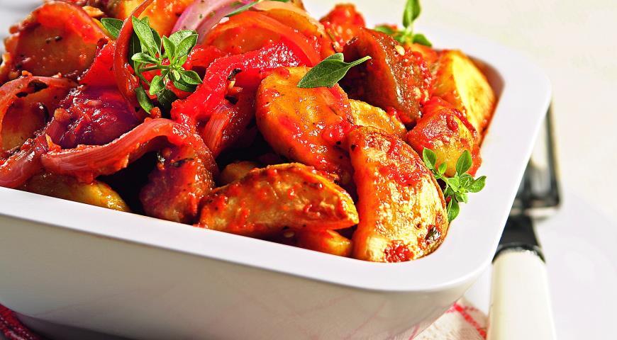 Рецепт Рататуй с вяленными на солнце помидорами