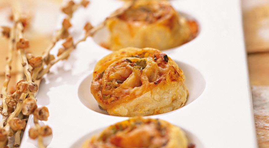 Рецепт Острое печенье Сырные завитки