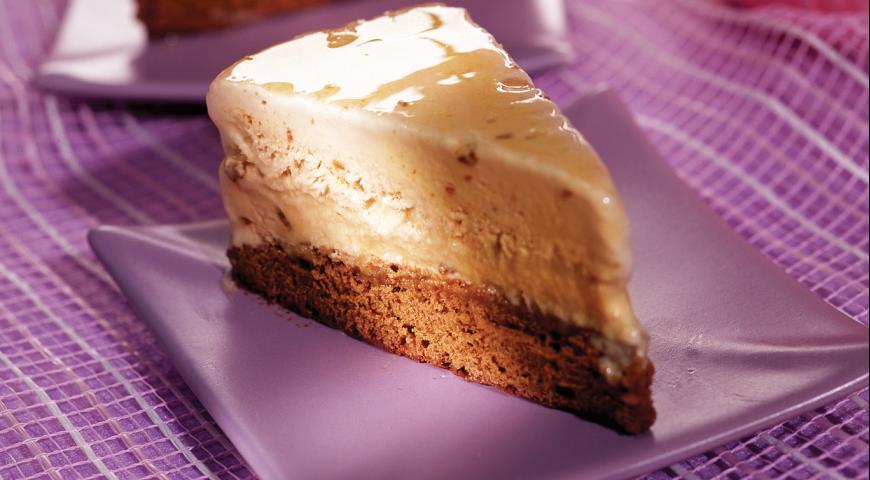 Рецепт Торт-мороженое с карамелью