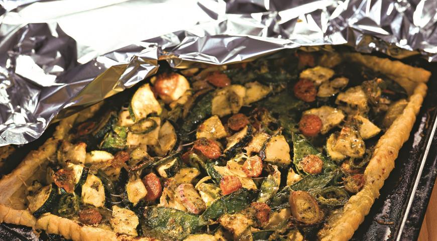 Рецепт Овощной пирог с песто