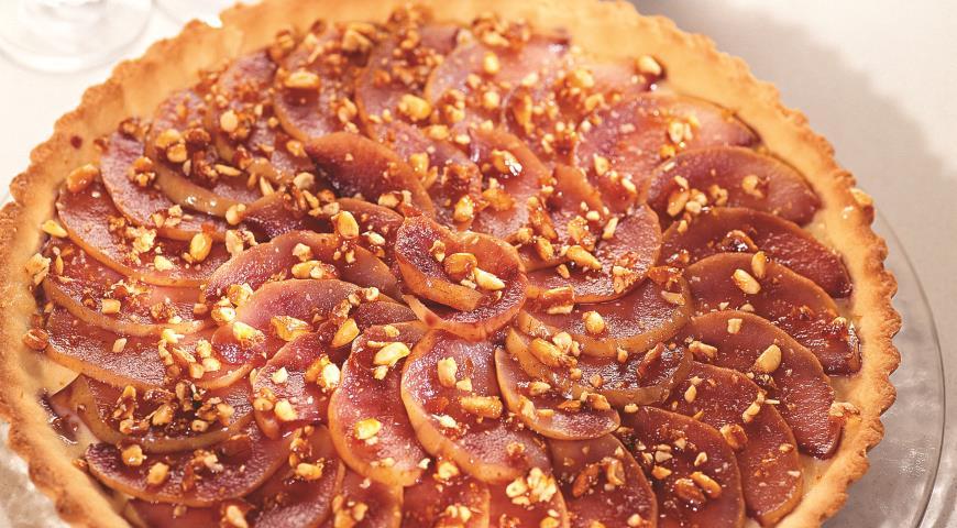 Рецепт Грушевый пирог с орешками в карамели