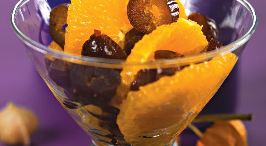 Рецепт Салат из апельсинов с базиликом